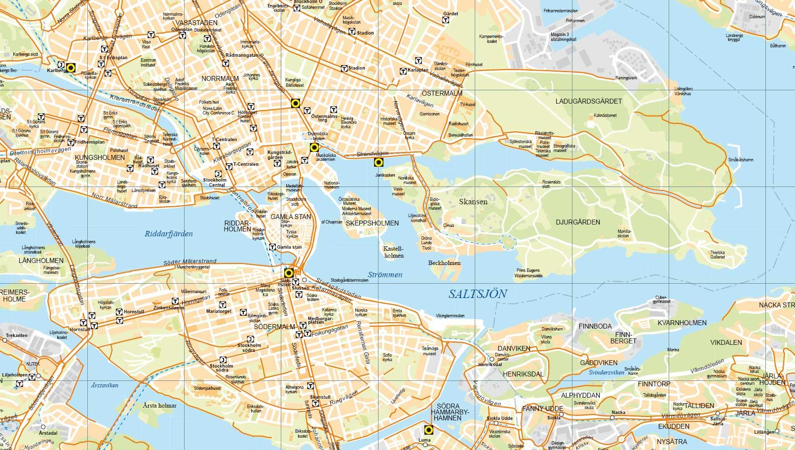 karta över stockholms stad Cykla i Stockholm   Stockholm turistguide karta över stockholms stad