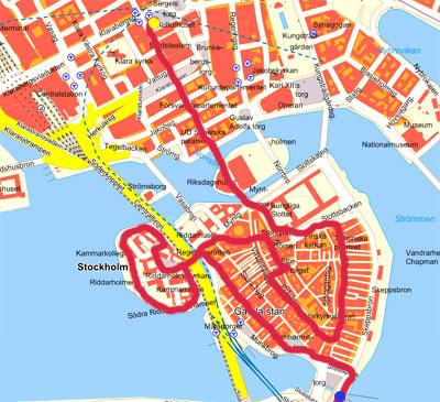 Karta Stockholm Drottninggatan.Walk In The Old Town Gamla Stan Stockholm